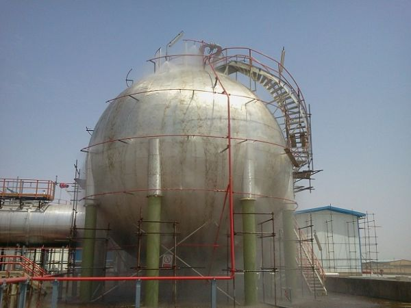 testing of water spray system design, made and installed on TJPC site.