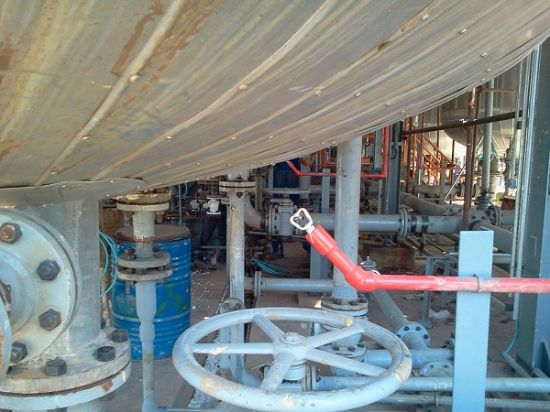 Spray Nozzle System made and installed on TAKHTE JAMSHID TJPC site.